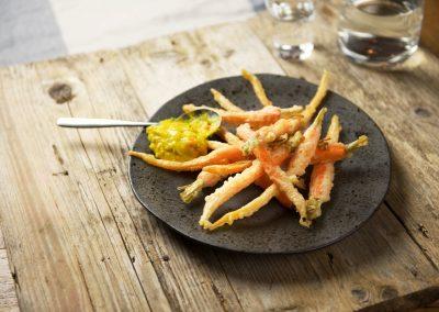 In tempura gefrituurde Sous Vide bospeen