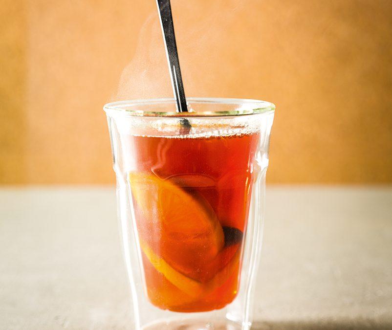 Warme Cocktail Sinaasappel Munt Citroen