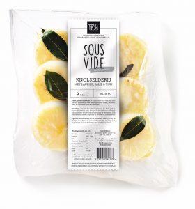 Sous Vide vacuüm gegaarde groenten knolselderij