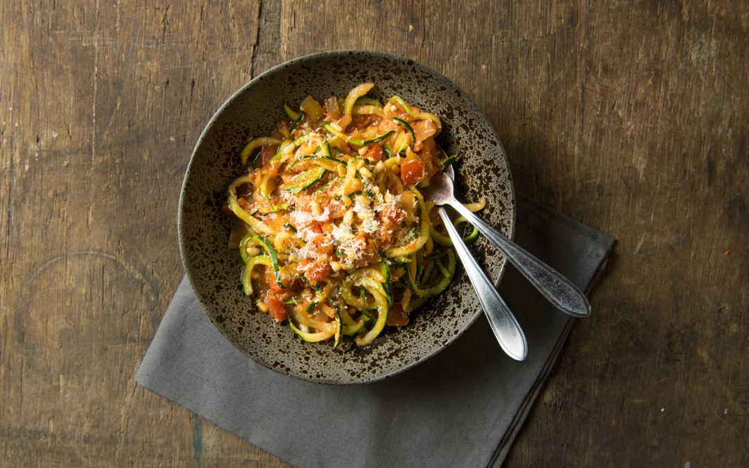 Groentepasta courgette Bolognese